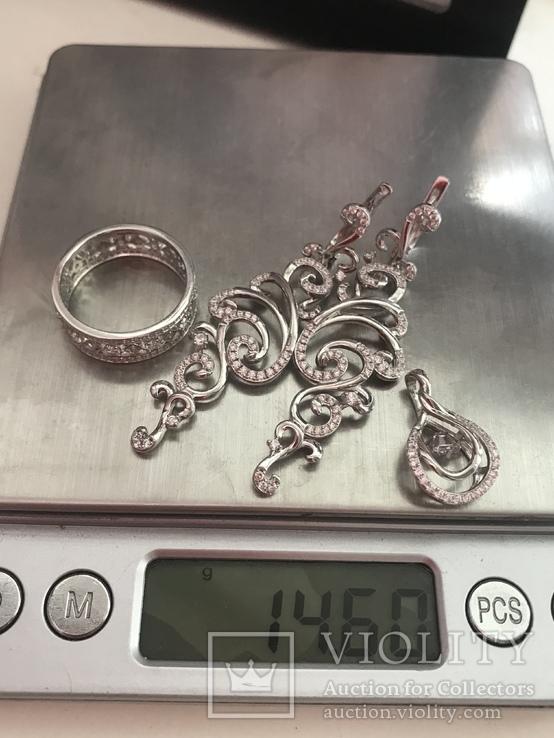 Набор серебряных украшений, фото №10