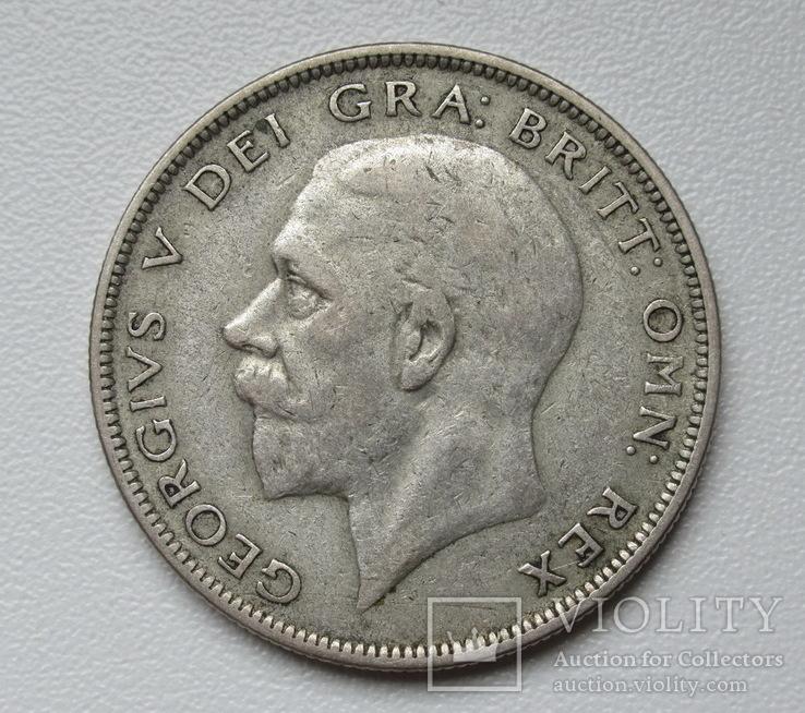 1/2 кроны 1936 г. Великобритания, серебро, фото №4