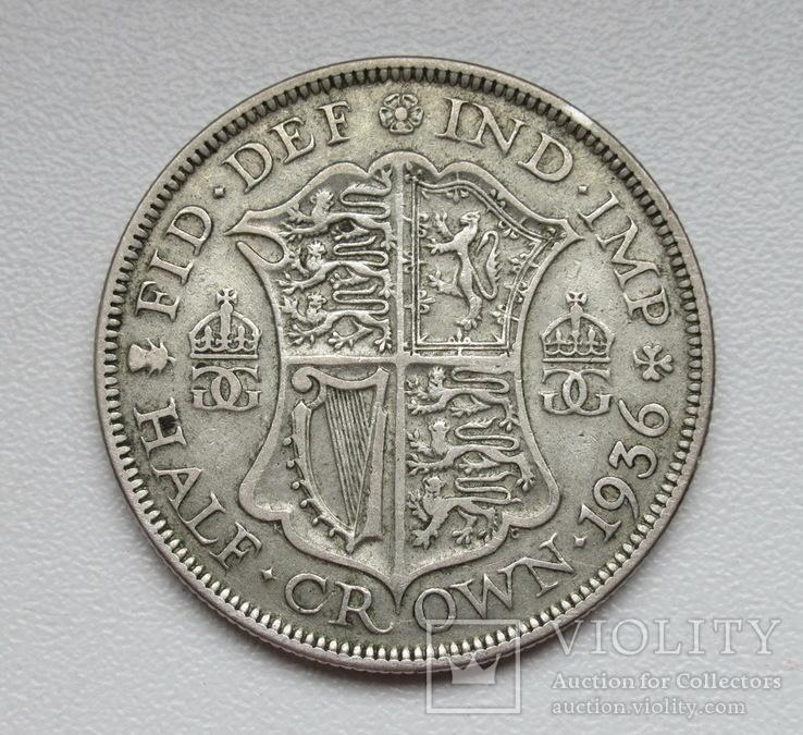 1/2 кроны 1936 г. Великобритания, серебро, фото №8