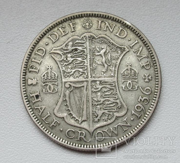 1/2 кроны 1936 г. Великобритания, серебро, фото №10