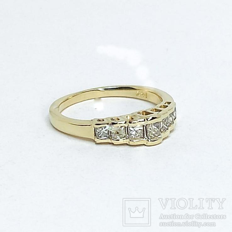 Винтажное золотое кольцо с бриллиантами огранки