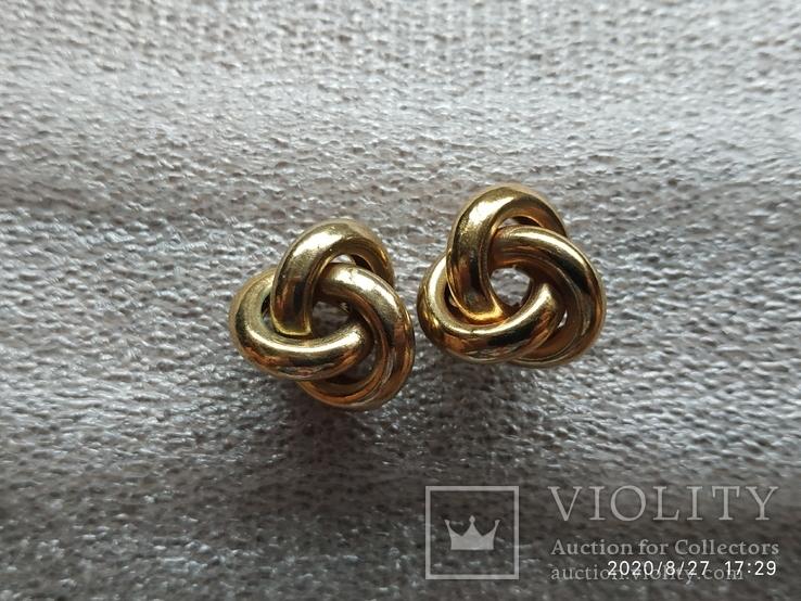 Серьги кольца, фото №2