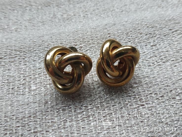 Серьги кольца, фото №3