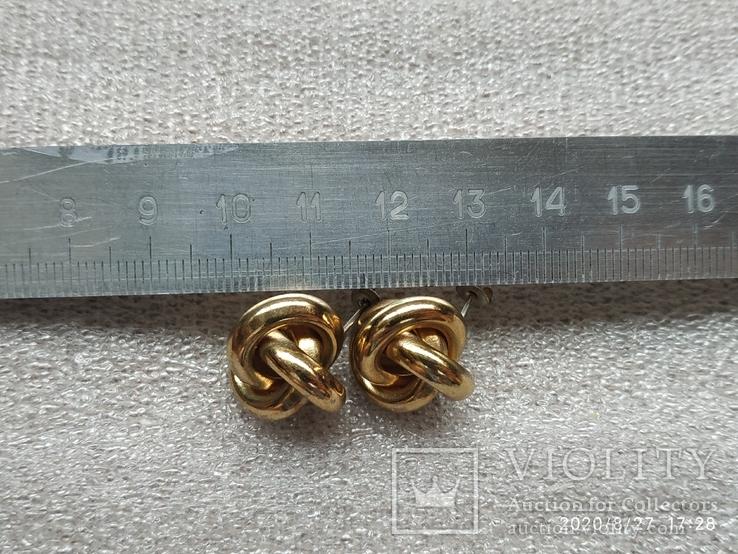 Серьги кольца, фото №6
