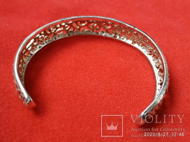 Браслет узоры серебрение, фото №4