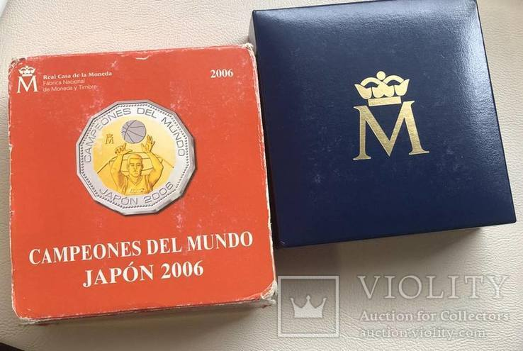 Испания 2006 год 300 евро футбол биметалл (золото + серебро), фото №5
