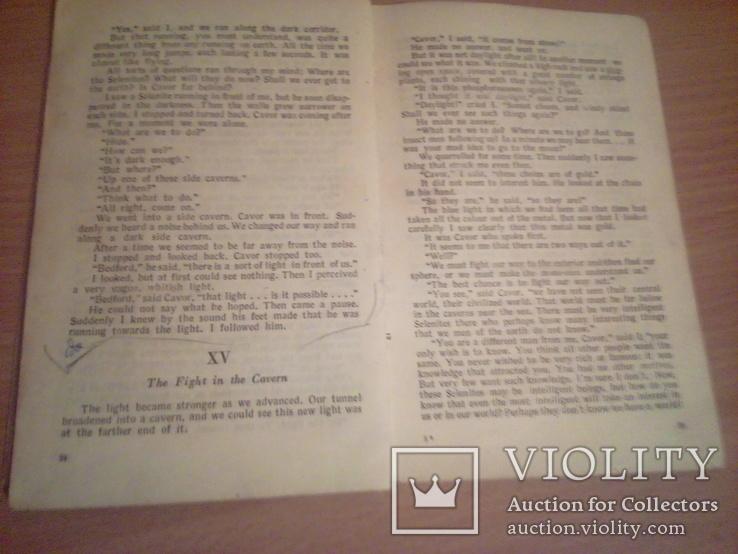 "Г. Уэллс ""Первые люди на Луне"" , сокращ. со словарем , на англ языке, изд. М. 1947г, фото №11"