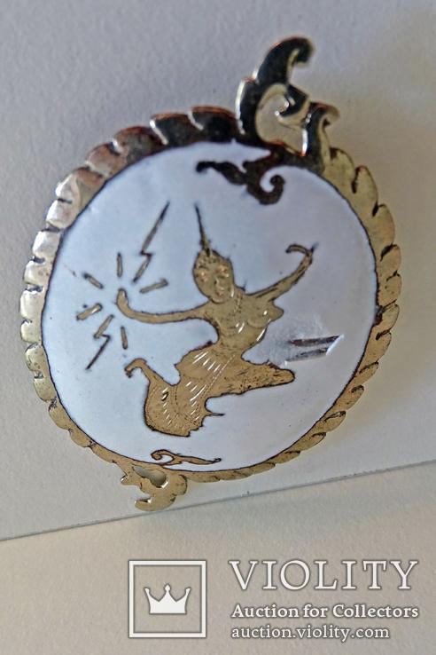 "Брошь ""Меккала - богиня молний"", Siam, серебро, эмаль., фото №5"