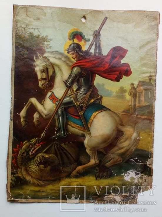 Икона Георгий Победоносец 1938 г., фото №3