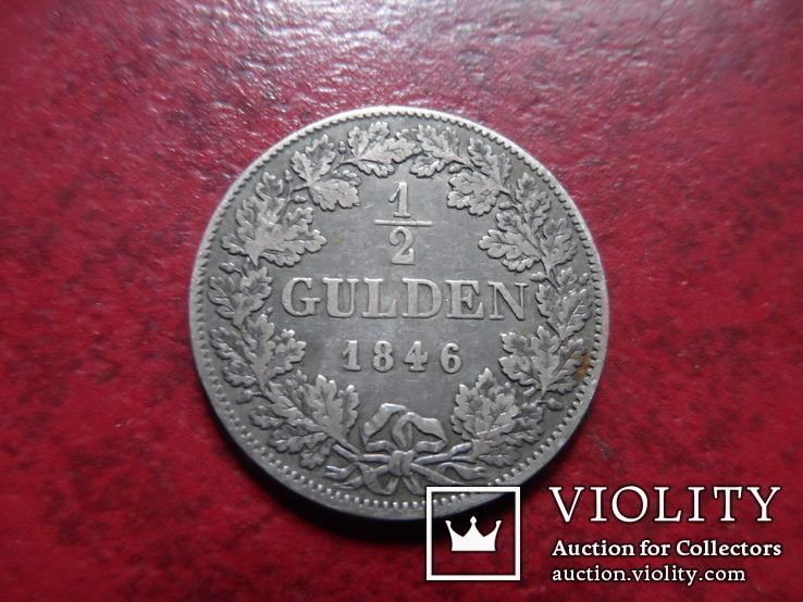 1/2 гульдена 1846 Бавария  серебро    (А.1.11)~, фото №2