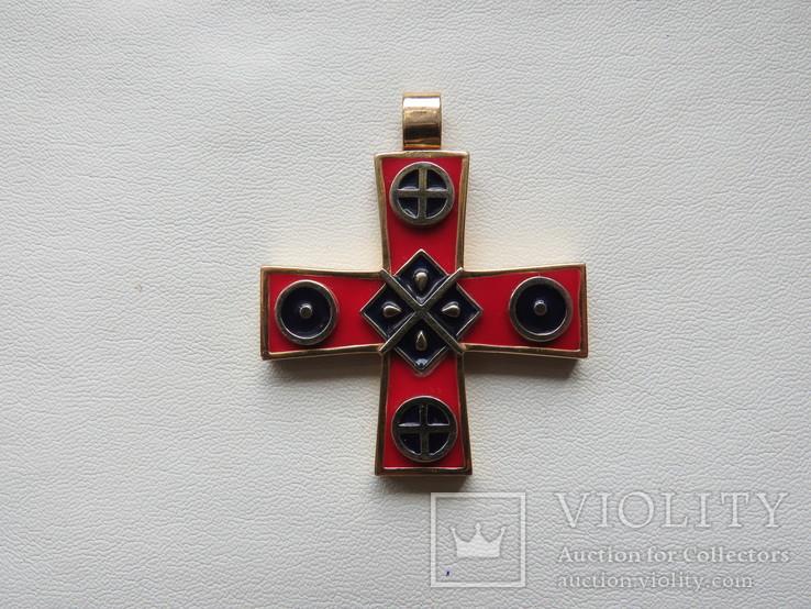 Кулон славянские языческие мотивы золото эмаль, фото №2