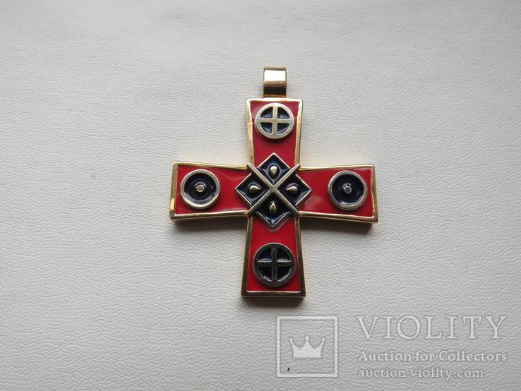 Кулон славянские языческие мотивы золото эмаль, фото №3
