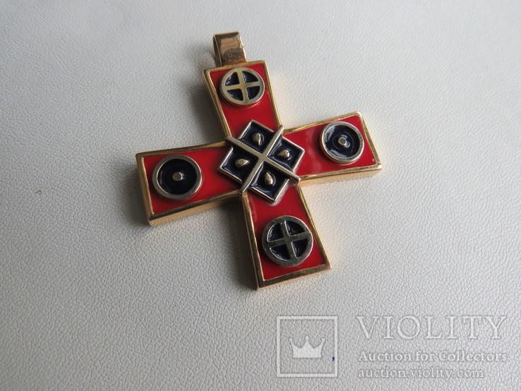 Кулон славянские языческие мотивы золото эмаль, фото №4