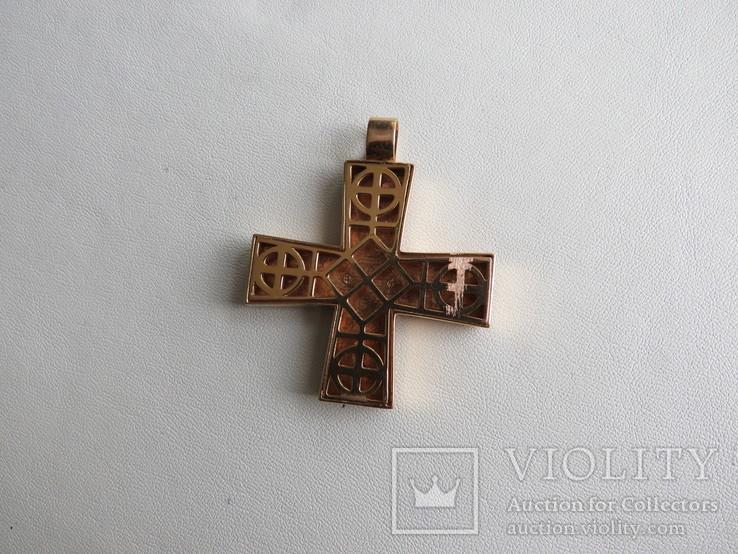 Кулон славянские языческие мотивы золото эмаль, фото №7