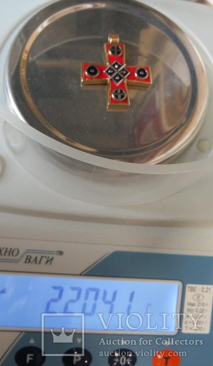 Кулон славянские языческие мотивы золото эмаль, фото №8