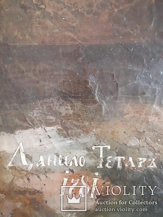 Подписная икона 1781 год. Холст. Масло., фото №4