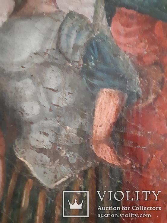 Подписная икона 1781 год. Холст. Масло., фото №5