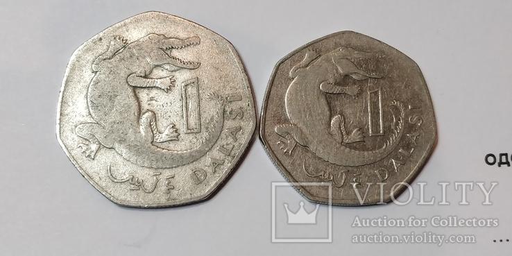 2 монеты Гамбии 1 даласи, фото №2