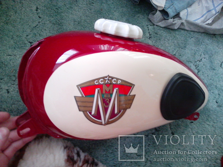 Декали на мотоцикл М1М, М-103, М-104 Минск (качественная копия) переводка малиновый фон, фото №6