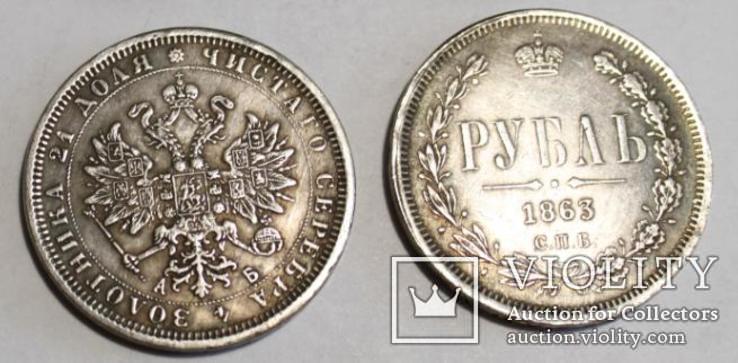 Рубль 1863 года копия