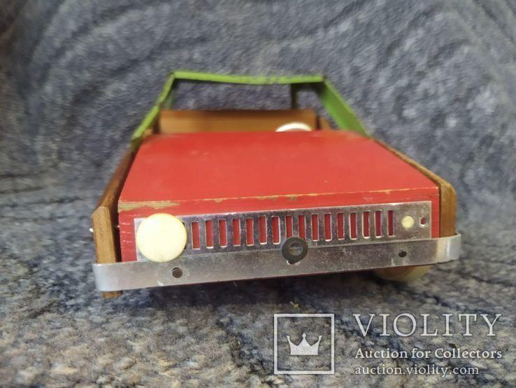 Модель машины дерево метал, фото №3