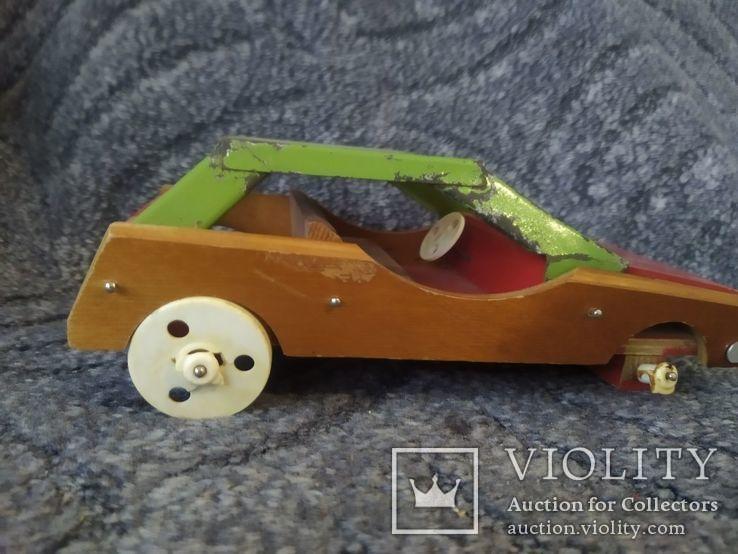 Модель машины дерево метал, фото №4