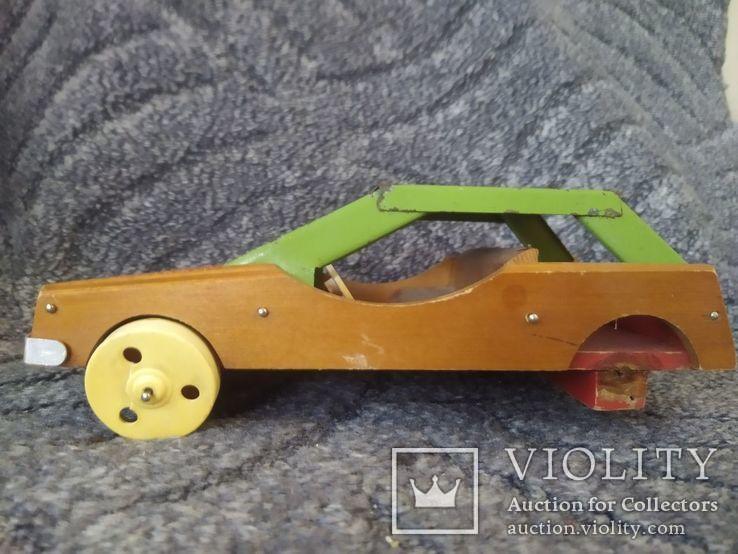 Модель машины дерево метал, фото №6