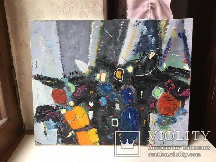 Картина холст, масло Абстракция. 40 х 50 см., фото №2