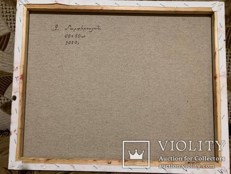 Картина холст, масло Абстракция. 40 х 50 см., фото №4