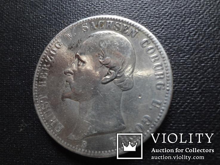 1 талер 1870 Саксен-Кобург Гота серебро   (О.5.7)~, фото №2