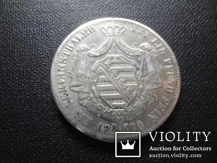 1 талер 1870 Саксен-Кобург Гота серебро   (О.5.7), фото №5