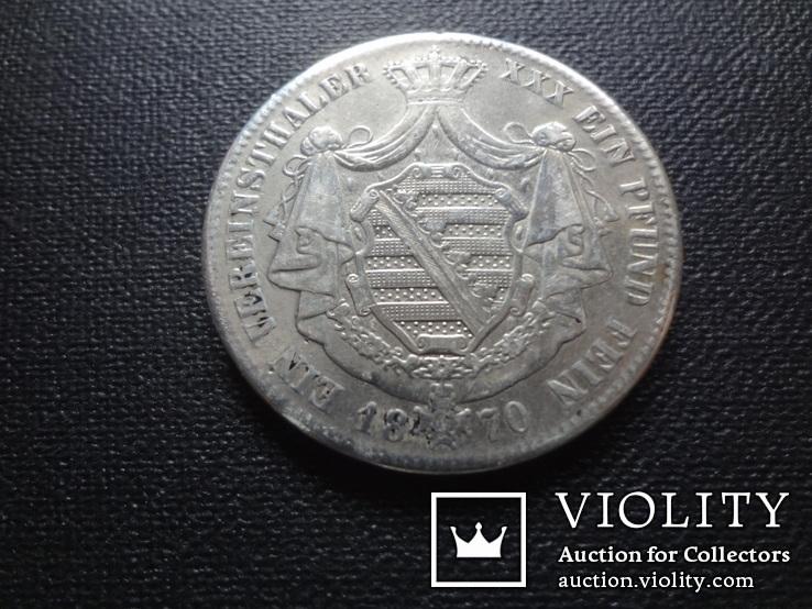 1 талер 1870 Саксен-Кобург Гота серебро   (О.5.7), фото №6