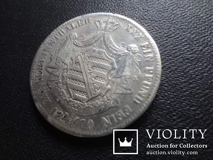 1 талер 1870 Саксен-Кобург Гота серебро   (О.5.7)~, фото №8