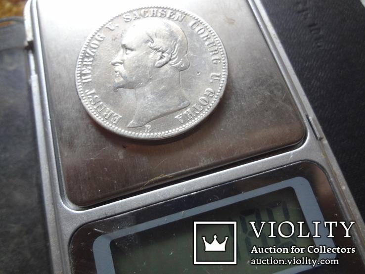 1 талер 1870 Саксен-Кобург Гота серебро   (О.5.7), фото №12