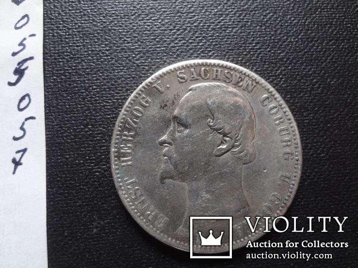 1 талер 1870 Саксен-Кобург Гота серебро   (О.5.7)~, фото №13