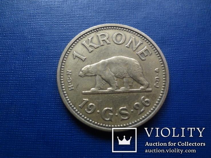 1 крона 1926 Гренландия    (1.5.14)~, фото №2