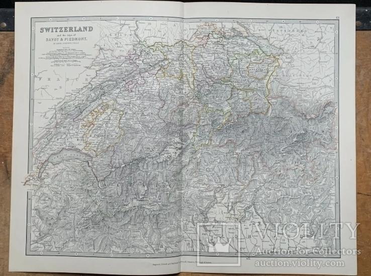 1880 Швейцария. Карта Олигарха. Оригинал, фото №2