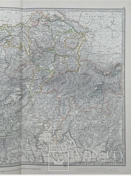 1880 Швейцария. Карта Олигарха. Оригинал, фото №3
