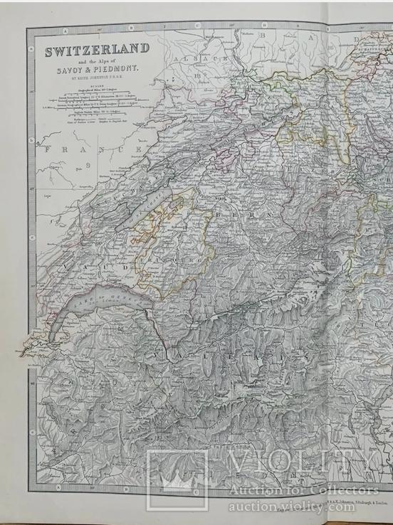 1880 Швейцария. Карта Олигарха. Оригинал, фото №4