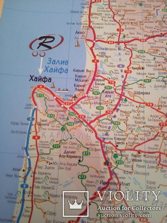 Карта Израиля, изд, Таргет, фото №9