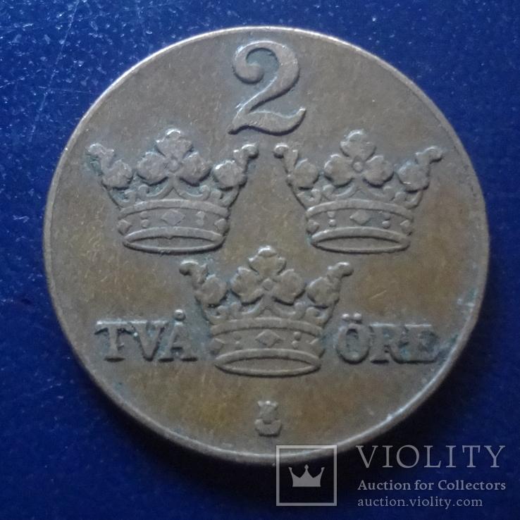 2 эре 1937 Швеция (Г.12.42), фото №3