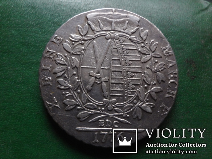 Талер 1776 Саксония   серебро  (2.4.16), фото №3