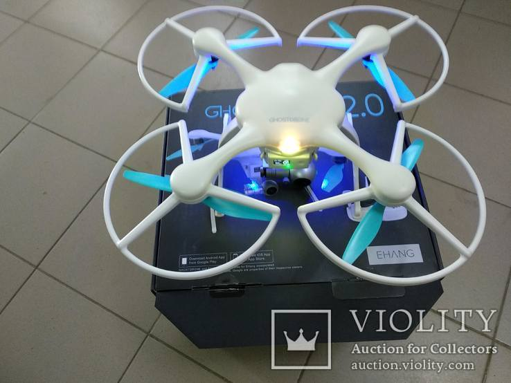 Квадрокоптер Ehang Ghostdrone 2.0 VR Android GPS 4k з окулярами VR, фото №3