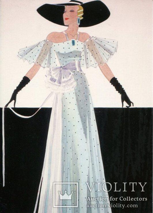 Открытки репринт винтаж ретро реклама женщины мода, фото №4
