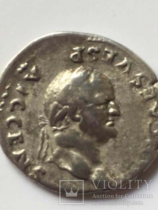 Веспасиан (69-79) . Денарий 73г., фото №2