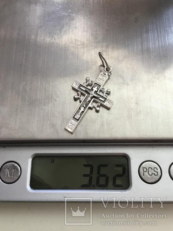 Крестик серебряный, фото №6