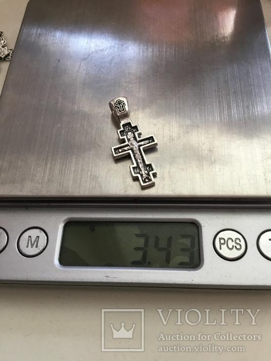 Серебряный крестик, фото №6
