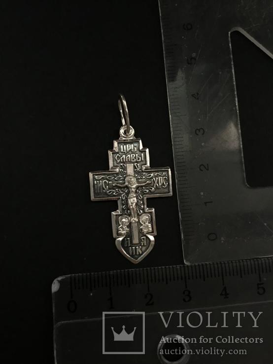 Крестик из серебра, фото №3