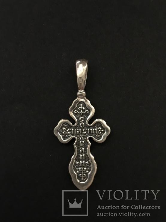 Крестик серебряный, фото №4
