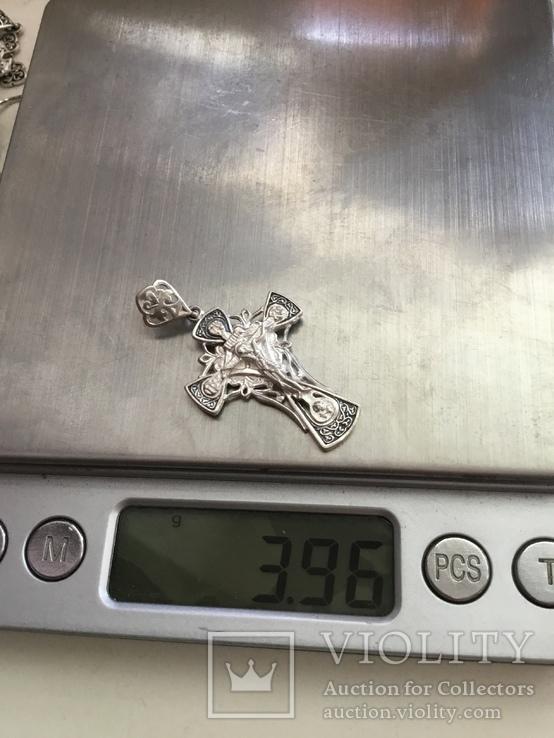Крестик, серебро 925 проба, фото №6